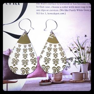 Jewelry - Vintage tea tin earrings; upcycled tin earrings